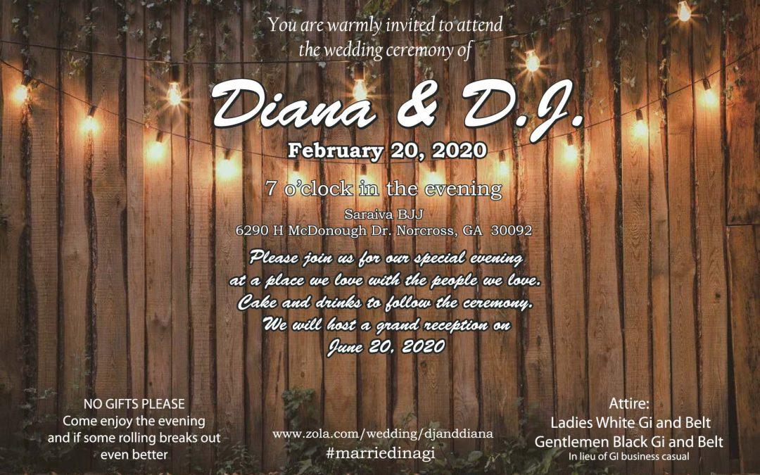 Diana and D.J. wedding 😮😍